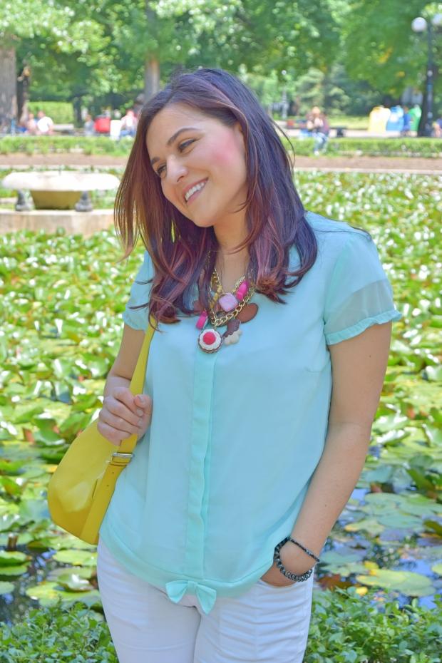petitemod-mint-color-blouse-vero-moda